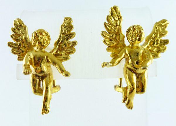 Ohrstecker Engel mit Flügel Silber Ster...