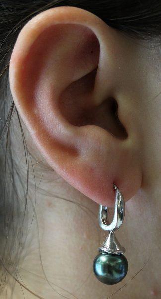 Ohrringe – Ohrhänger Sterling Silber 925 Tahitizuchtperlen