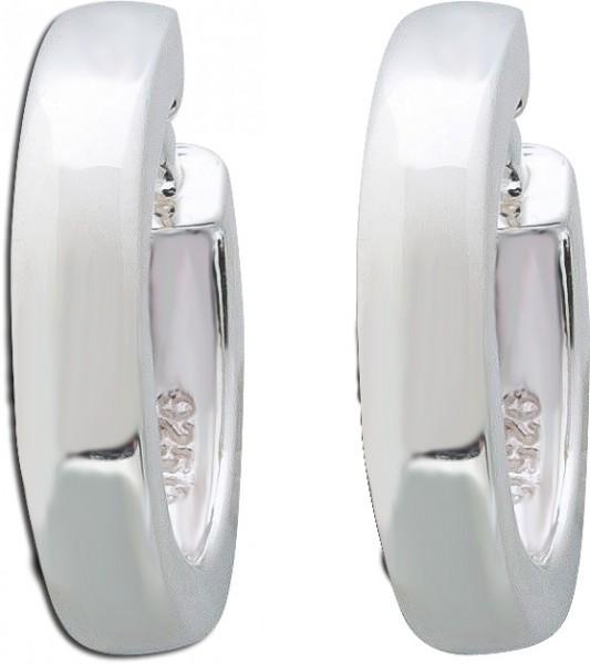 Ohrringe Creole Klappcreolen Silbercreole Sterling Silber 925 Silberohhringe poliert Damenschmuck