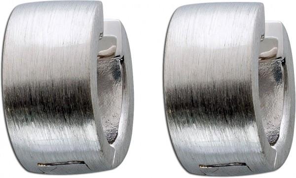Creolen Klappcreolen Silbercreolen Sterling Silber 925 mattierte Silber Ohrringe Damenschmuck