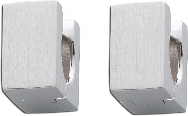 Ohrringe – Klappcreolen Sterling Silber 925 mattiert