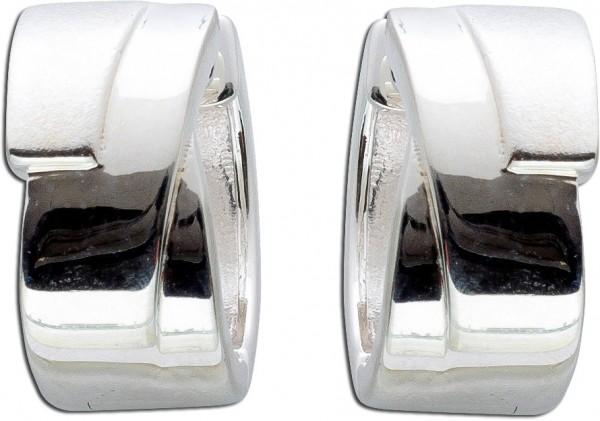 Modische Scharniercreolen Silberohrringe Silbercreolen Silber 925 Creolen Klappcreolen Silberschmuck