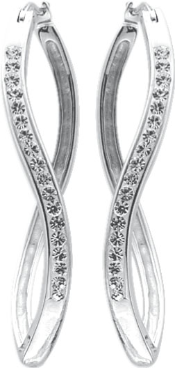 Ohrringe Scharniercreolen Silber 925 Kri...