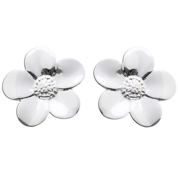 Blüten Ohrringe Blumen Ohrstecker Silbe...