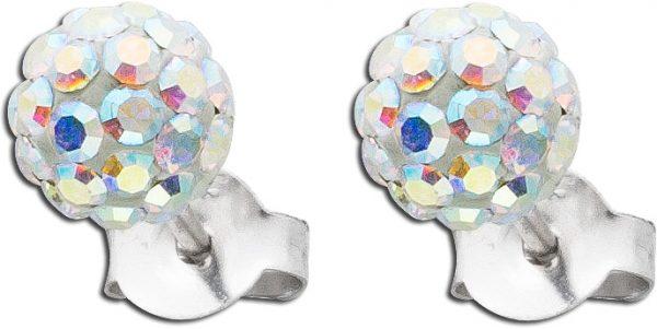Kristallohrstecker Ohrringe Silber 925 Silber 925 Aurore Boreale Kristalle funkelnd