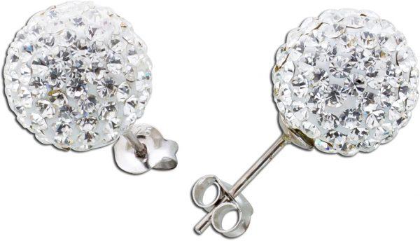 Kristallohrstecker Ohrringe Silber 925 w...