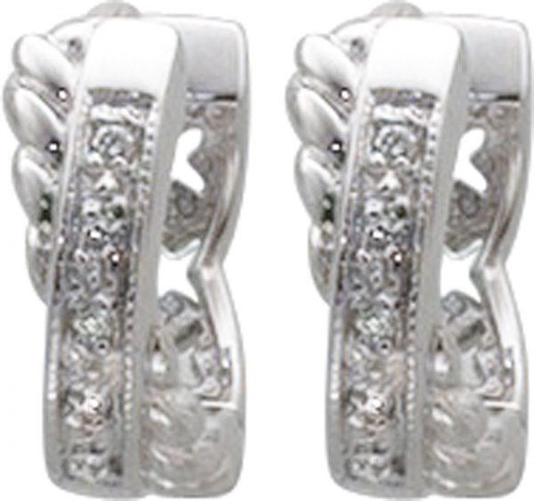 Ohrringe – Klappcreolen in Silber ...