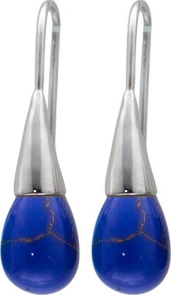 Ohrringe blau Lapislazuli blauen Edelste...