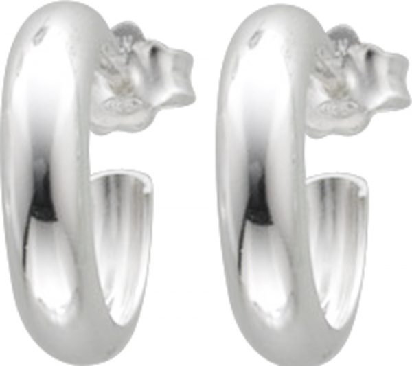Ohrringe – Halbcreolen in Silber S...