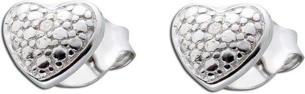 Diamanten Ohrringe Herzohrstecker Silber...