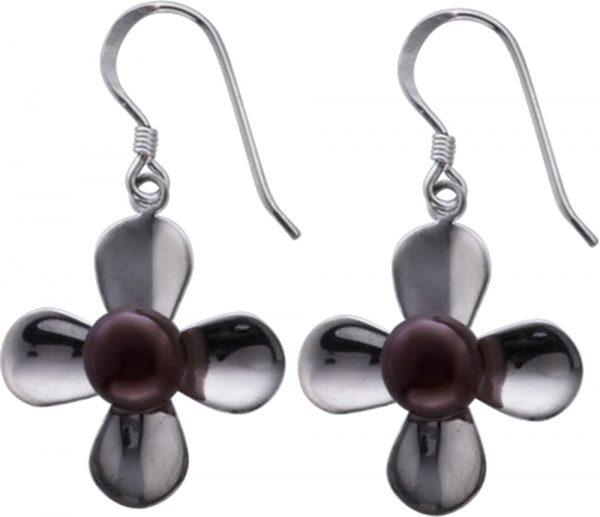 Ohrringe – Ohrhänger in Blütenfo...