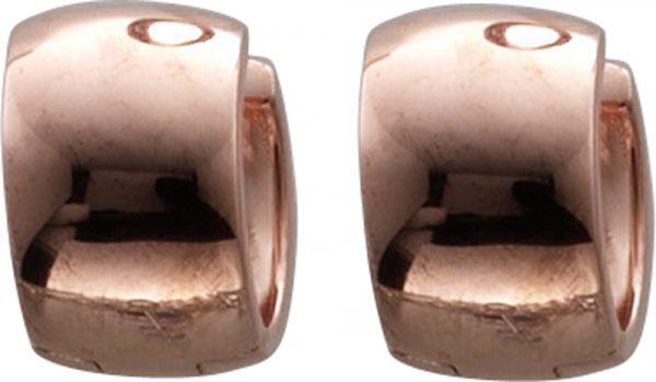 Ohrringe Klappcreolen Silber 925 rosé v...
