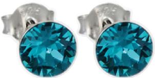 Crystal Blue Ohrringe – Ohrstecker Silber Sterlingsilber 925 grünem Swarovski Elements