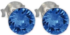 Crystal Blue Ohrringe – Ohrstecker Silber Sterlingsilber 925 blaue Swarovski Elements