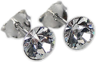 Crystal Blue Ohrringe – Ohrstecker Silber Sterlingsilber 925 weiße Swarovski Elements