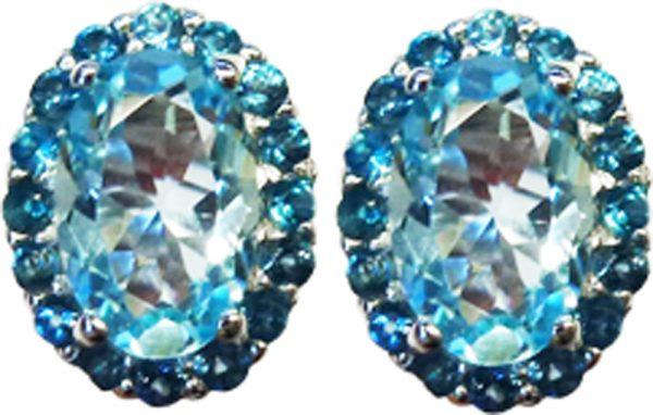 Ohrringe – Ohrstecker Sterling Silber 925 Blautopas
