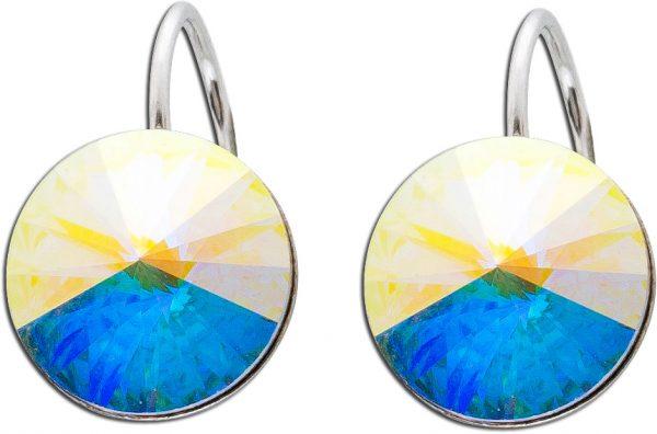 Crystal Blue Ohrringe Ohrhänger Silber ...