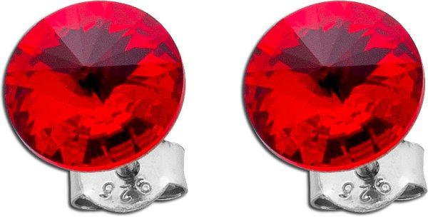 Rote Ohrstecker Ohrringe Silber 925 Swar...