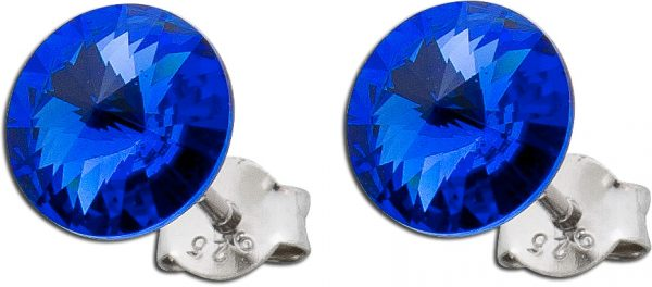 Blaue Ohrringe Ohrstecker Silber 925 Swa...