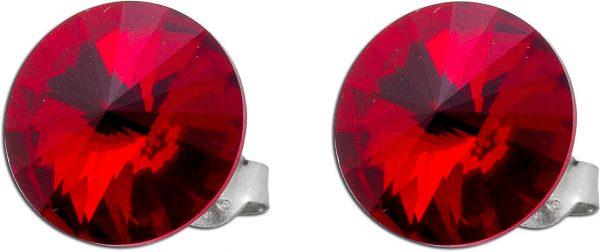 Rote Ohrringe Ohrstecker Silber 925 Swar...