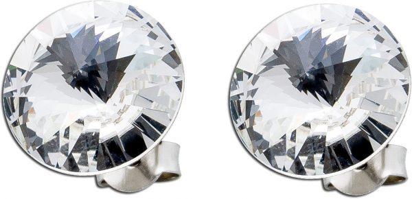 Klare Ohrstecker Ohrringe Silber 925 Swa...