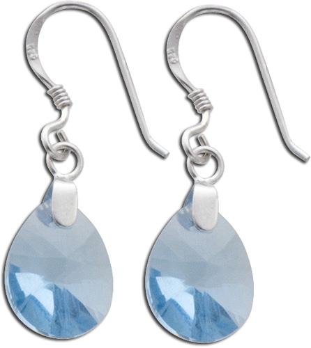 Ohrringe – Ohrhänger 925er Sterling Silber Swarovski Elements blau