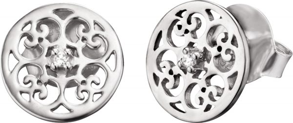 Ohrringe – Engelsrufer ERE-ORNA-ZI-ST Ohrstecker Ornament Silber Sterlingsilber rhodiniert Zirkonia