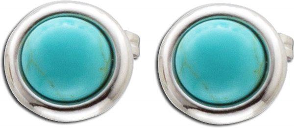 Ohrstecker hellblau Silber 925/- mit Tü...