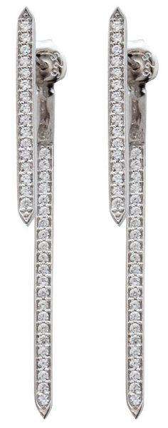 Ohrringe Ear Jacket Silber 925 Ohrstecke...