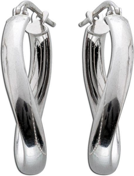 Creolen Silber 925 Damenschmuck rhodinie...