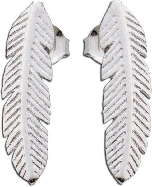 Feder Ohrringe Silber 925 Ohrstecker