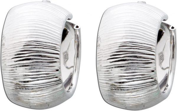 Ohrringe Silber 925 Scharniercreolen Ohr...