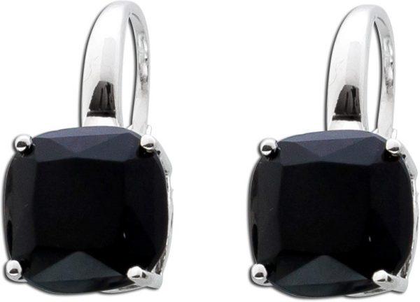 Onyx Edelsteinohrringe schwarz Ohrhänge...