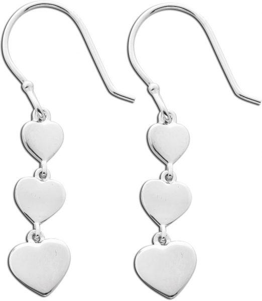 Herz Ohrringe Silber 925 Ohrhänger Dame...
