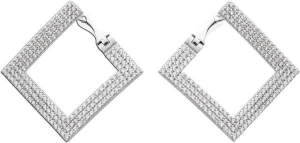 Ohrringe Ohrhänger Silber 925 geometris...