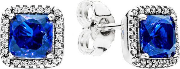 Ohrringe – PANDORA Ohrstecker 290591NBT Zeitlose Eleganz blau Sterling Silber 925