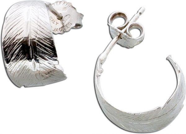 Ohrstecker Feder Flügel Ohrringe Silber...