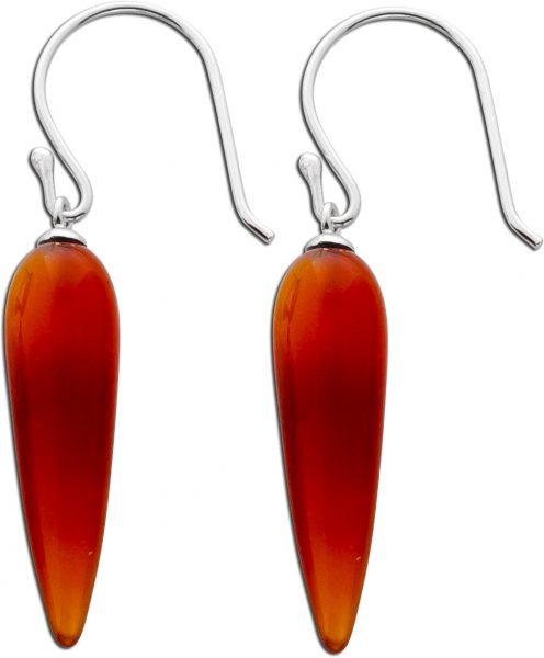 Edelstein Ohrringe Ohrhänger rot Silber...