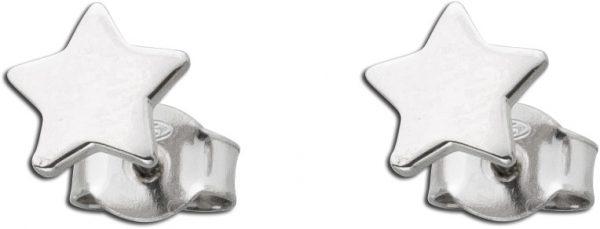 Stern Ohrstecker Ohrringe Sterling Silber 925