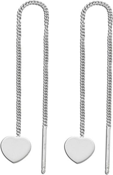 Durchzieher  Herz Ohrhänger Silber 925 ...