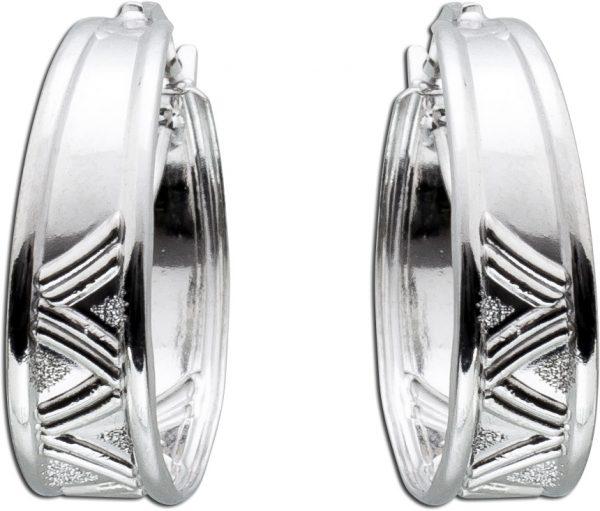 Creolen Silber 925 Ohrringe Scharniercre...