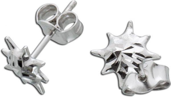Ohrstecker Sonne Silber 925 Ohrringe Ste...