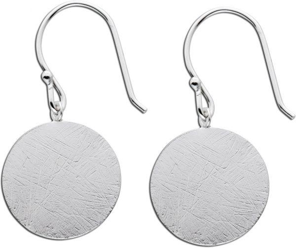 Ohrhänger Silber 925 rund Ohrringe Krei...
