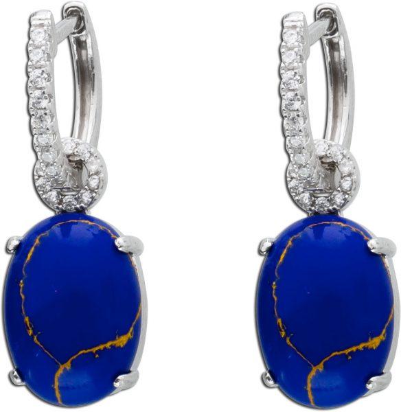 Ohrringe Edelstein blau Silber 925 Lapis...