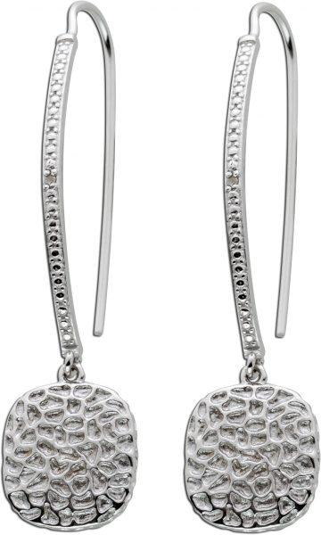 Ohrhänger weißen Diamant Silber 925  A...