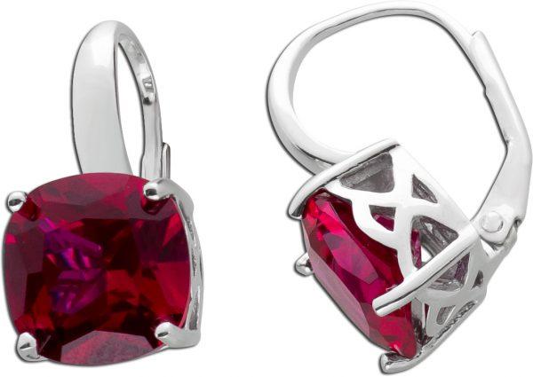 Ohrhänger roten Rubin Silber 925 Ohrsch...