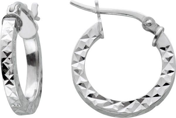 Lapponia Look Creolen Ohrringe Silber 925 unebene Oberfläche Damen Kinder