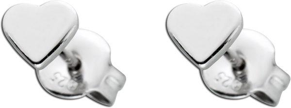 Herz Ohrstecker Ohrringe Silber 925 Dame...