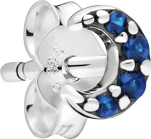 Pandora Me Einzelner Ohrstecker 298534C01 My Moon Silber 925 Blau Kristall
