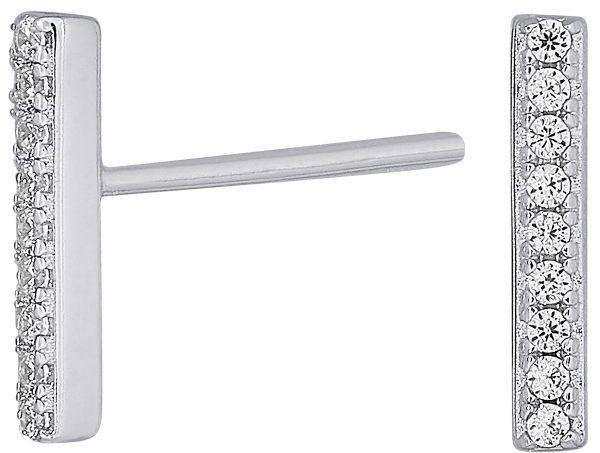 Nordahl Joanli Nor Ohrring 345 255 FiraNor Rhodiniertes Sterling Silber 925 Klare Zirkonia 10mm